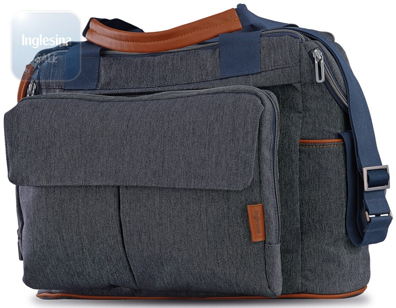 Inglesina Dual Bag Village Denim. Сумка Инглезина Дуал Бэг Вилледж Деним