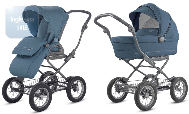 Inglesina Sofia Duo Artic Blue. Универсальная коляска 2 в 1 Инглезина София Дуо Артик Блу