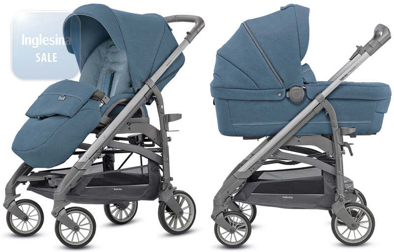 Inglesina Trilogy Artic Blue. Универсальная коляска 2 в 1 Инглезина Трилоджи Артик Блу