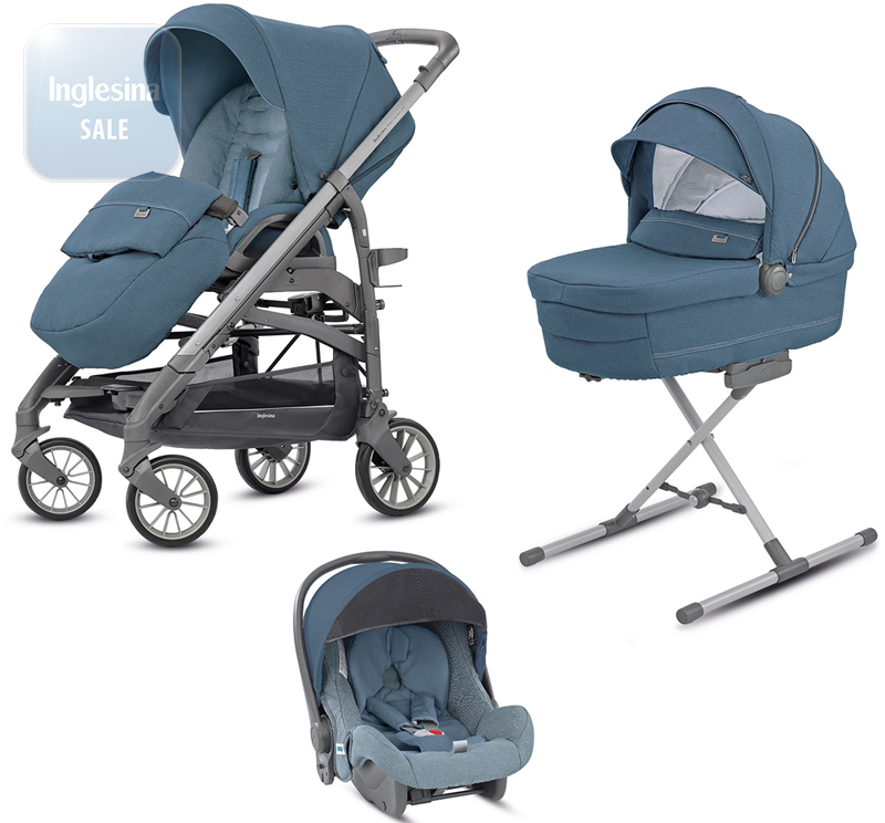 Inglesina Trilogy Artic Blue. Универсальная коляска 3 в 1 Инглезина Трилоджи Артик Блу