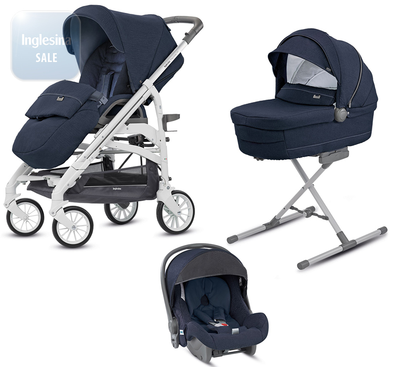 Inglesina Trilogy Imperial Blue. Универсальная коляска 3 в 1 Инглезина Трилоджи Империал Блу