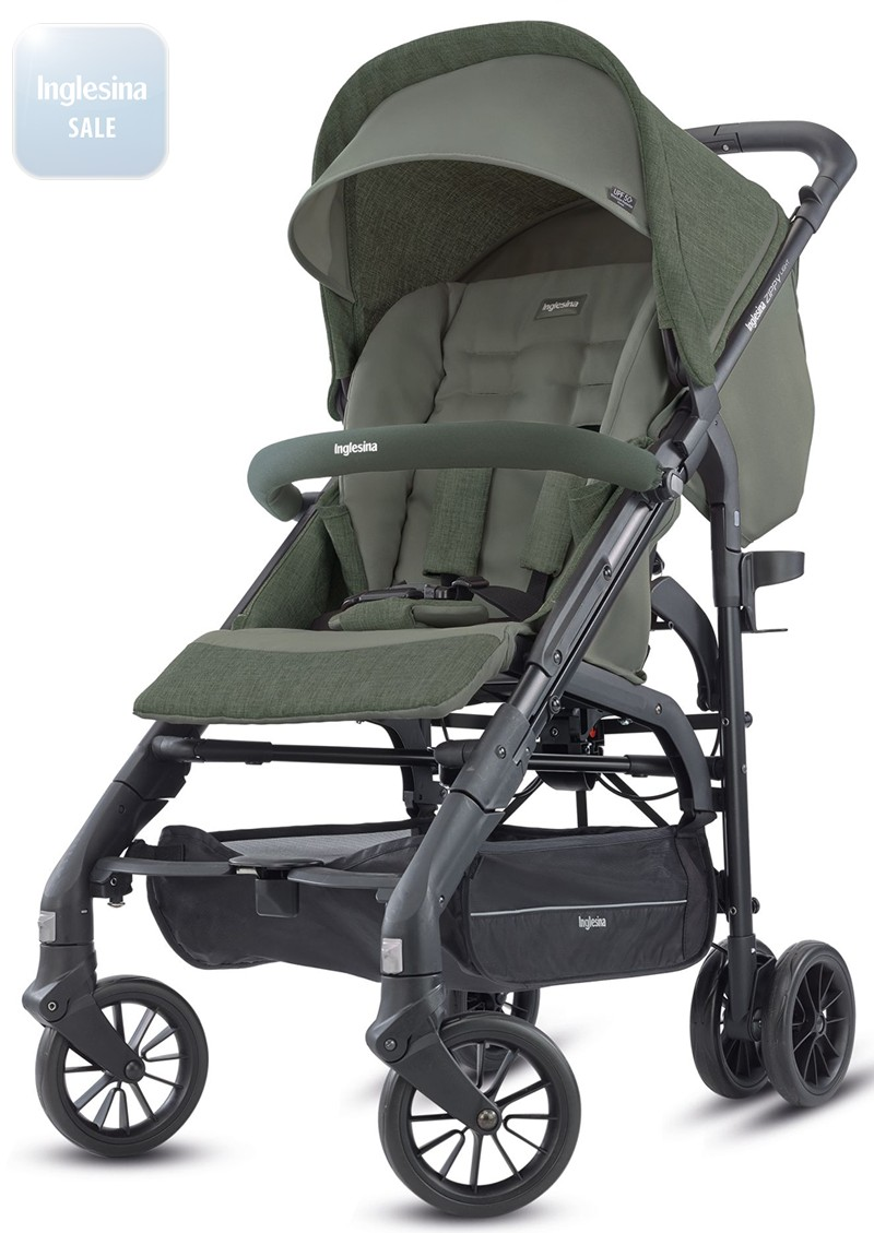 Inglesina Zippy Light Camp Green. Прогулочная коляска Инглезина Зиппи Лайт Камп Грин